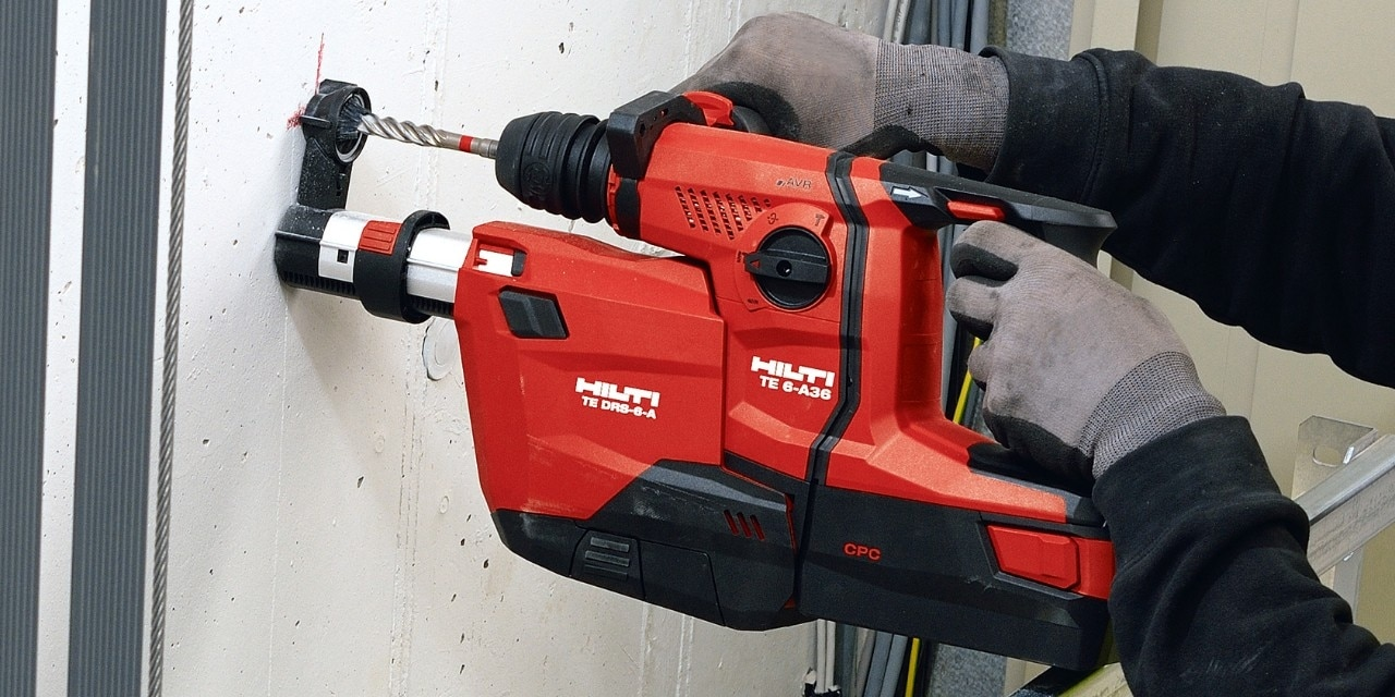 Drilling in concrete